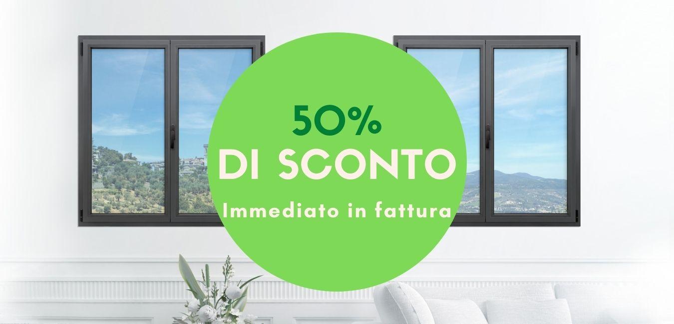 Sconto 50 %